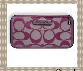 Coach Smart Purple Bag Case iPhone 4 Case, iPhone case, iPhone 4s Case, iPhone 4 Cover, Hard iPhone 4s Case Original Design