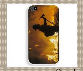 Firefighter Hard Case iPhone 4 Case, iPhone case, iPhone 4s Case, iPhone 4 Cover, Hard iPhone 4s Case Original Design