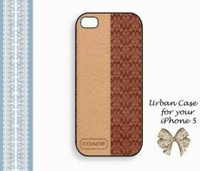 Coach Lovely Brown Hard Case iPhone 5 Case, iPhone case, iPhone 5 Case, iPhone 5 Cover, Hard iPhone 5 Case Original Design