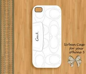 Coach Lovely Lady White Hard Case iPhone 5 Case, iPhone case, iPhone 5 Case, iPhone 5 Cover, Hard iPhone 5 Case Original Design