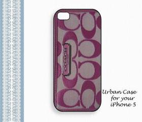 Coach Lovely Purple Smart Case Hard Case iPhone 5 Case, iPhone case, iPhone 5 Case, iPhone 5 Cover, Hard iPhone 5 Case Original Design