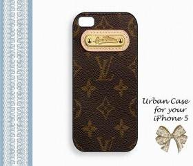 Louis Vuiton Smart Gold Smart Case Hard Case iPhone 5 Case, iPhone case, iPhone 5 Case, iPhone 5 Cover, Hard iPhone 5 Case Original Design