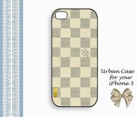 Louis Vuitton Smart White Smart Case Hard Case iPhone 5 Case, iPhone case, iPhone 5 Case, iPhone 5 Cover, Hard iPhone 5 Case Original Design