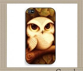 Smart Owl Hard Case iPhone 4 Case, iPhone case, iPhone 4s Case, iPhone 4 Cover, Hard iPhone 4s Case Original Design