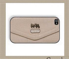 Coach Smart Cream Hard Case iPhone 4 Case, iPhone case, iPhone 4s Case, iPhone 4 Cover, Hard iPhone 4s Case Original Design